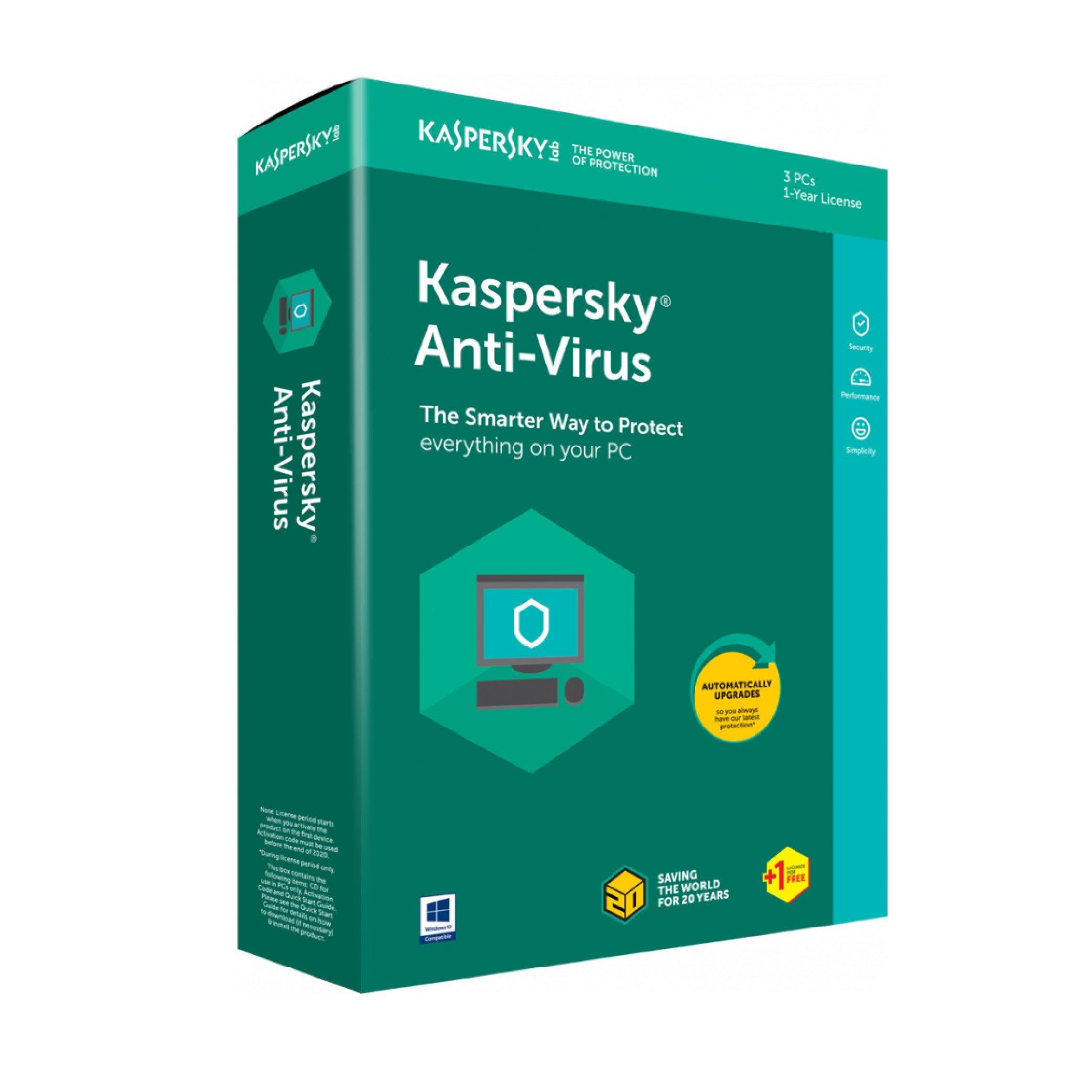 KASPERSKY ANTIVIRUS 2020 3+1