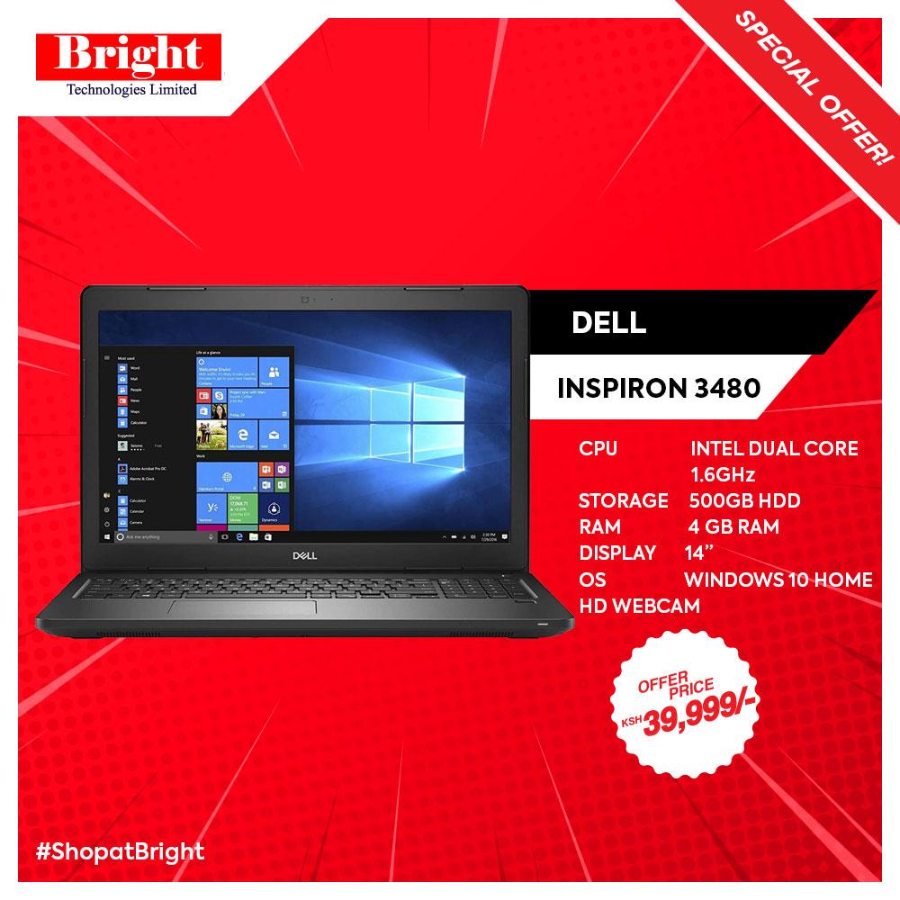 DELL INSPIRON 3480,Intel Celerone DUAL CORE,4GB RAM, 500GB HDD