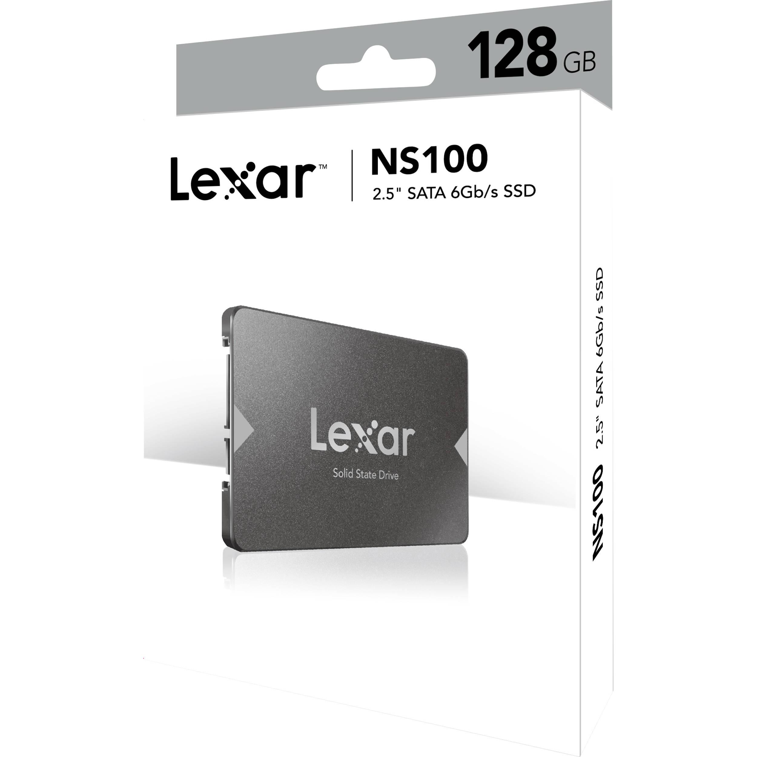 """Lexar NS100 2.5"""" SATA III (6GB/S) 128GB Solid-State Drive"""