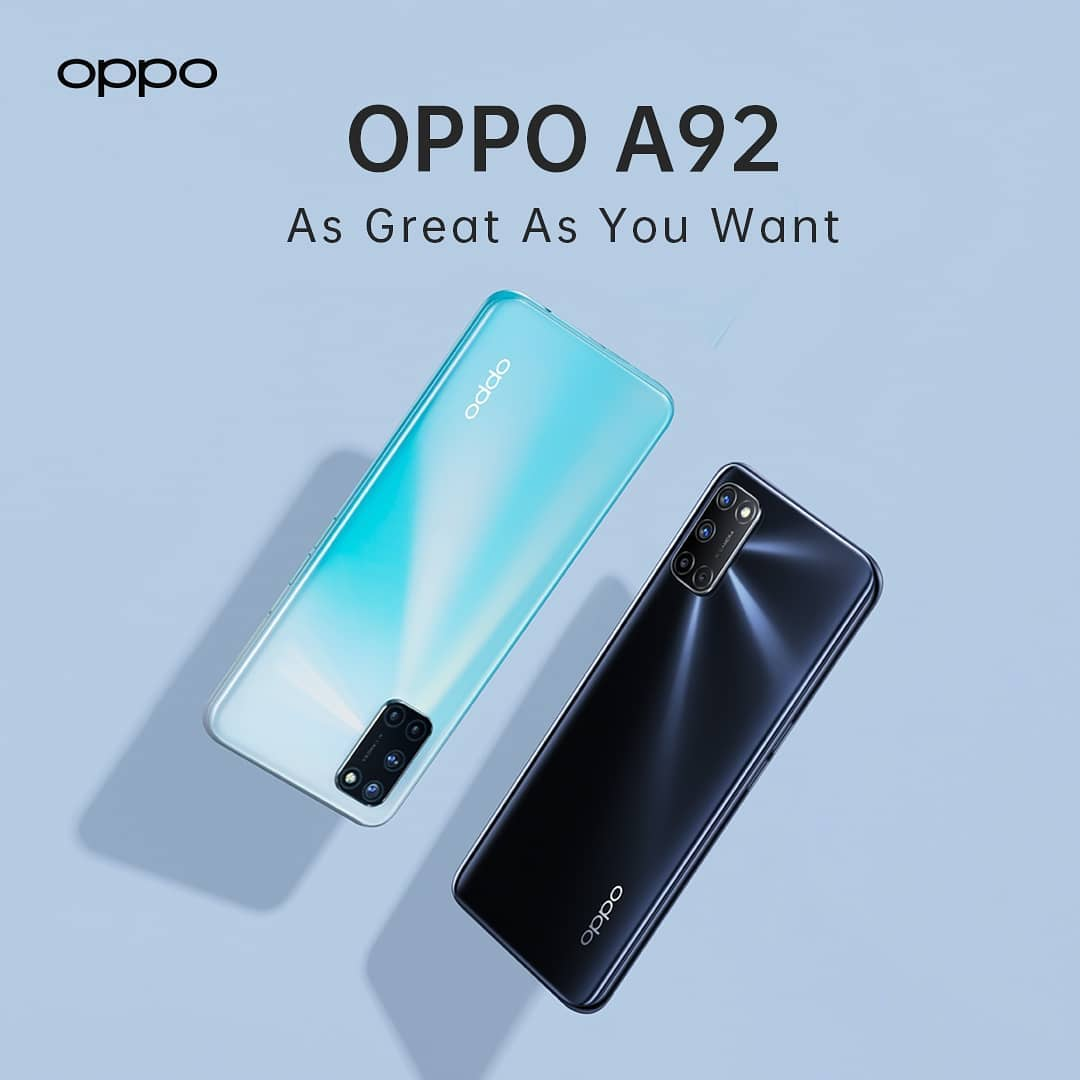 OPPO A92,8gb ram,128gb storage,